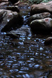 Slow moving stream. Stream moving over rocks and pebbles Royalty Free Stock Photos