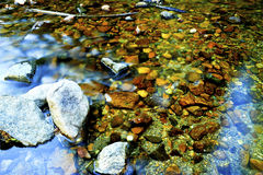 Slow Moving Stream. A rocky, slow moving stream Stock Photos