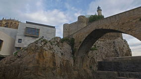 Slow Moving Toward Castro Urdiales stock video footage