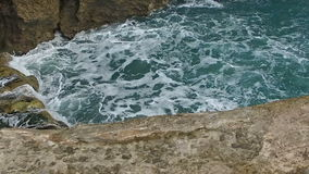 Slow Moving towards on the Wave Castro Urdiales 02 stock video