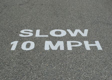 Slow 10 MPH Royalty Free Stock Image