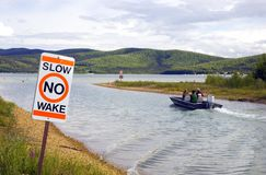 Slow No Wake Royalty Free Stock Images