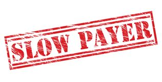Slow payer red  stamp. Isolated on white background Royalty Free Stock Photography