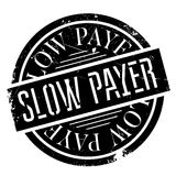 Slow Payer rubber stamp Royalty Free Stock Images