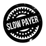 Slow Payer rubber stamp Stock Photo