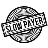 Slow Payer rubber stamp Royalty Free Stock Photography