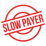 Slow Payer rubber stamp Stock Photos