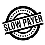Slow Payer rubber stamp Stock Images