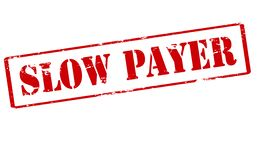 Slow payer. Rubber stamp with text slow payer inside,  illustration Royalty Free Stock Photography