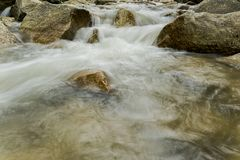 Slow Shutter Image of River Stock Photo