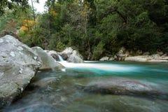 Slow shutter photo of Figarella river at Bonifatu in Corsica Royalty Free Stock Photo