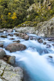 Slow shutter photo of Figarella river at Bonifatu in Corsica Stock Image