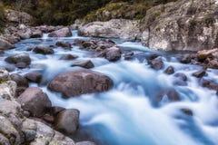 Slow shutter photo of Figarella river at Bonifatu in Corsica Royalty Free Stock Image