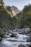 Slow Shutter Photo Of Figarella River At Bonifatu In Corsica Stock Photos