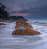 Slow Shutter at Teluk Cempedak, Pahang Royalty Free Stock Images