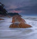 Slow Shutter at Teluk Cempedak, Pahang Royalty Free Stock Images