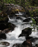 Slow shutter waterfall Stock Photo