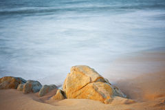 Slow shutterspeed picture at the coast Royalty Free Stock Image