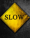 Slow sign Royalty Free Stock Image
