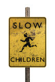 Slow sign. 3d illustration of a slow sign isolated on white background vector illustration