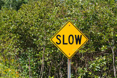 Slow Sign Stock Image