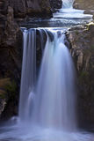 Slow Spilling Water At White River Falls stock photo