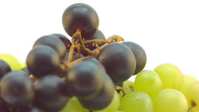 Slow spin of a cluster of Grapes stock footage