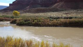 Slow stream of Colorado River stock video footage