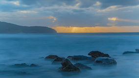 Slow Sunrise Seascape. Long Exposures at Killcare Beach, Central Coast, NSW, Australia Stock Images