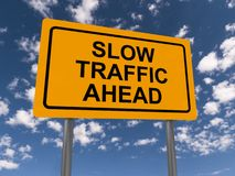 Slow traffic ahead Royalty Free Stock Photo