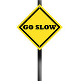 SLOW TRAFFIC SIGN. With background Royalty Free Stock Images