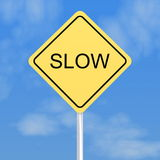 Slow traffic sign Royalty Free Stock Image