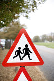 Slow, Traffic Sign Stock Photo