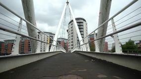 Slow walk at a bridge