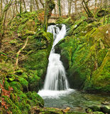 Slow Water. Autumn landscape of a waterfall in Cumbria. Lake District. England Stock Photo