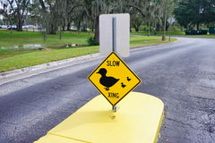 Slow xing sign. Taken in florida Royalty Free Stock Image