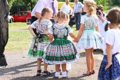 Slowaaks nationaal kostuum Tekov royalty-vrije stock afbeeldingen