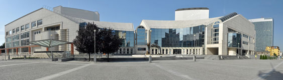 Slowaaks Nationaal Theater Stock Foto