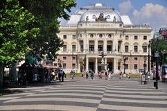 Slowaaks Nationaal Theater, Bratislava Stock Afbeeldingen