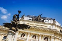 Slowaaks Nationaal Theater, Bratislava, Slowakije Stock Foto's