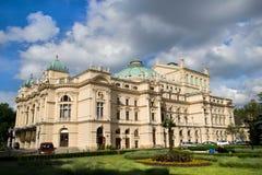 Slowacki le théâtre baroque de type Photo stock