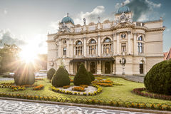 Slowacki's Theater in old town of Krakow, Poland Royalty Free Stock Images