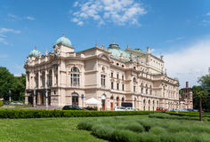 Slowacki Theater in Cracow Stock Image