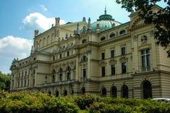 Slowacki theatre in Cracov Royalty Free Stock Image