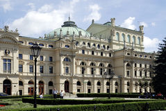 Slowacki Theatre of Krakow in Poland Royalty Free Stock Image