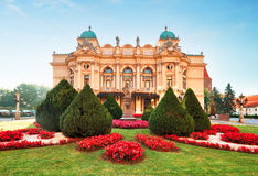 Slowackiego theater in summer time in Krakow royalty free stock photography