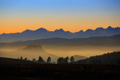Slowakei morgens Stockfotografie