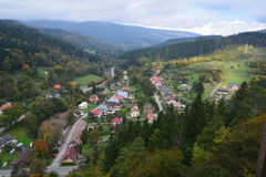 slowakei Orava-Schloss Stockfotografie