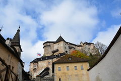 slowakei Orava-Schloss lizenzfreie stockfotografie