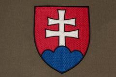 Slowakei-Wappen Stockfoto